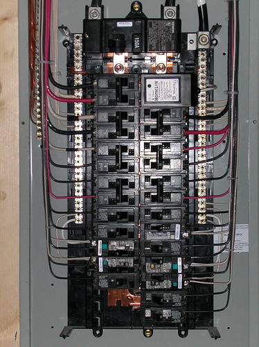 electrical service panel and branch circuit wiring chaney electric rh chaneyelec com service panel wiring diagram residential electrical service panel wiring